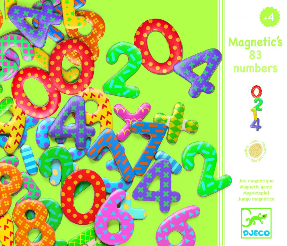 Drevené magnetky pre deti Čísla 38 ks od 4 rokov  0b8078f41f5