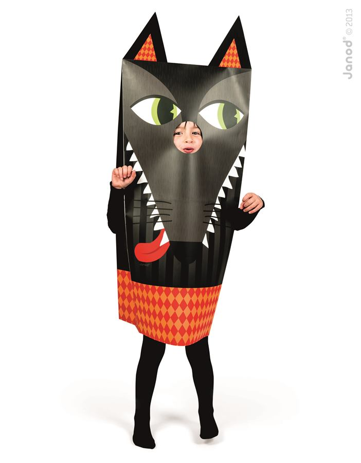 Detský karnevalový kostým Vlk Sackanimo Janod  4433459ca45