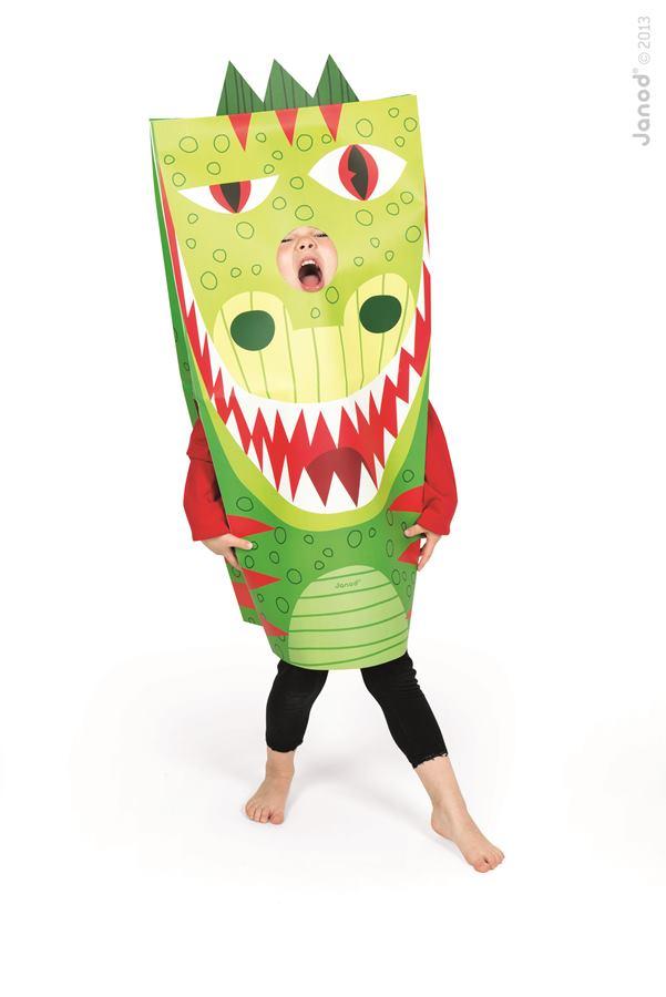 204e4d01a42d J02861 Detský karnevalový kostým Drak Sackanimo Janod 2