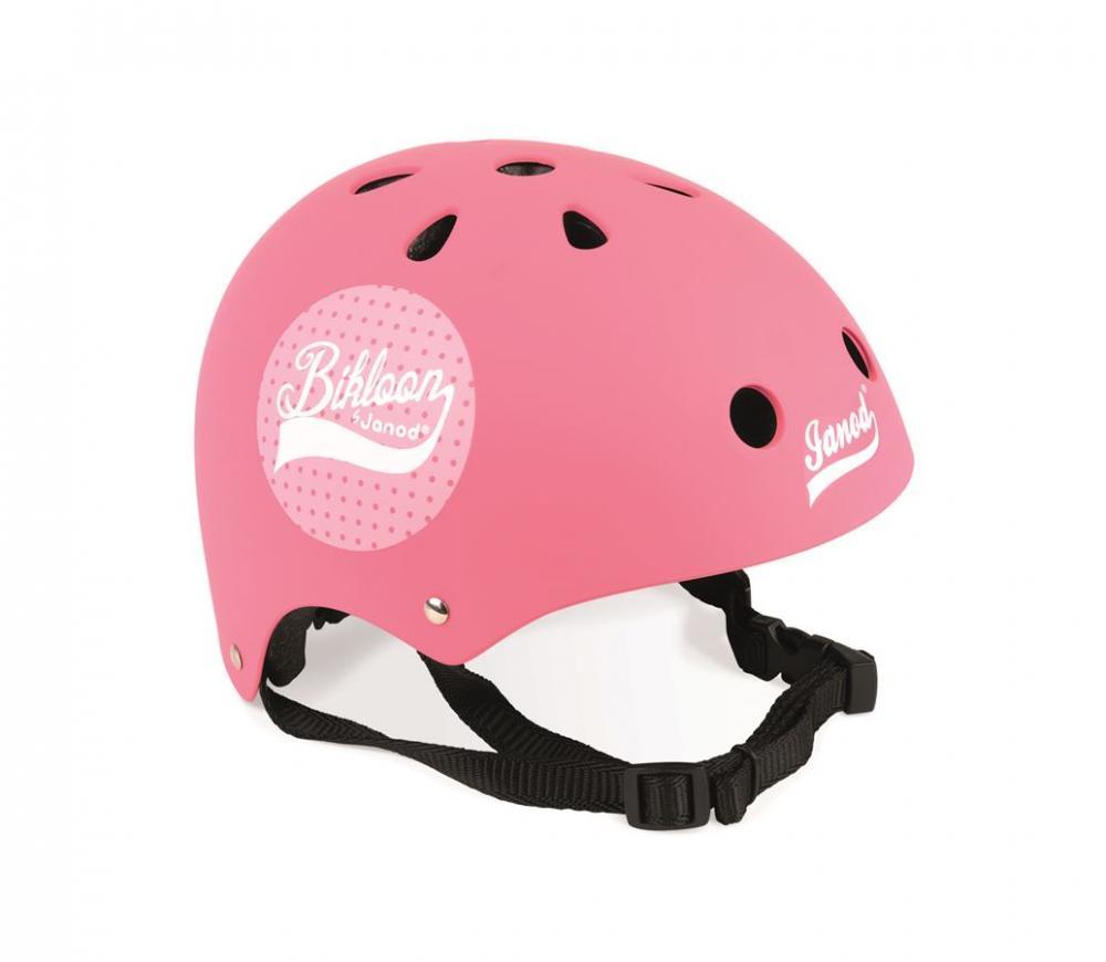 Cyklistická prilba pre deti Bikloon ružová s bodkami Janod s ventiláciou  veľkosť 47-54 0a5fc6e7a8c