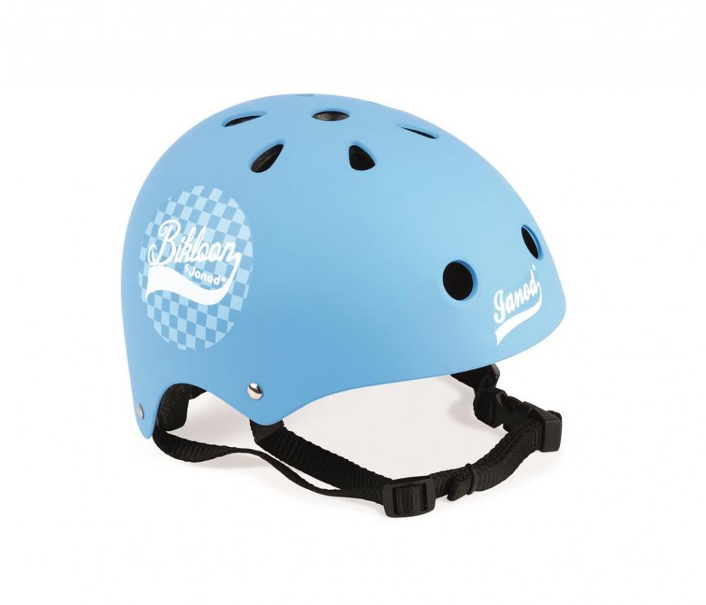 Cyklistická prilba pre deti Bikloon modrá s kockami Janod s ventiláciou  veľkosť 47-54 f9ac3744a4c