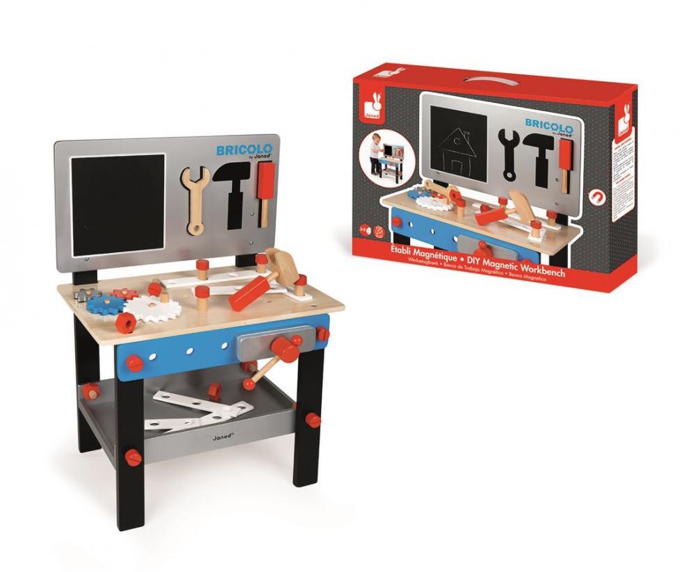 d5cd8c47d7a89 J06491_Drevený pracovný stôl a dielnička Redmaster Bricolo Janod magnetický  s doplnkam (1)