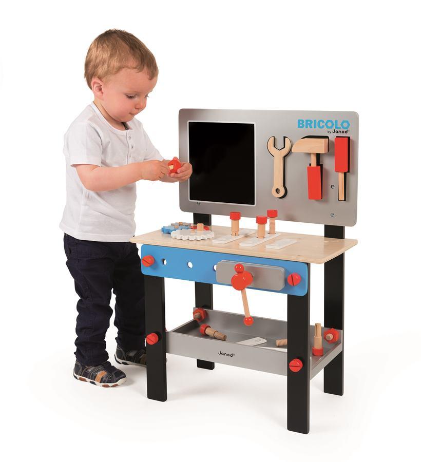 18711fa7ef2c9 J06491_Drevený pracovný stôl a dielnička Redmaster Bricolo Janod magnetický  s doplnkam (4)