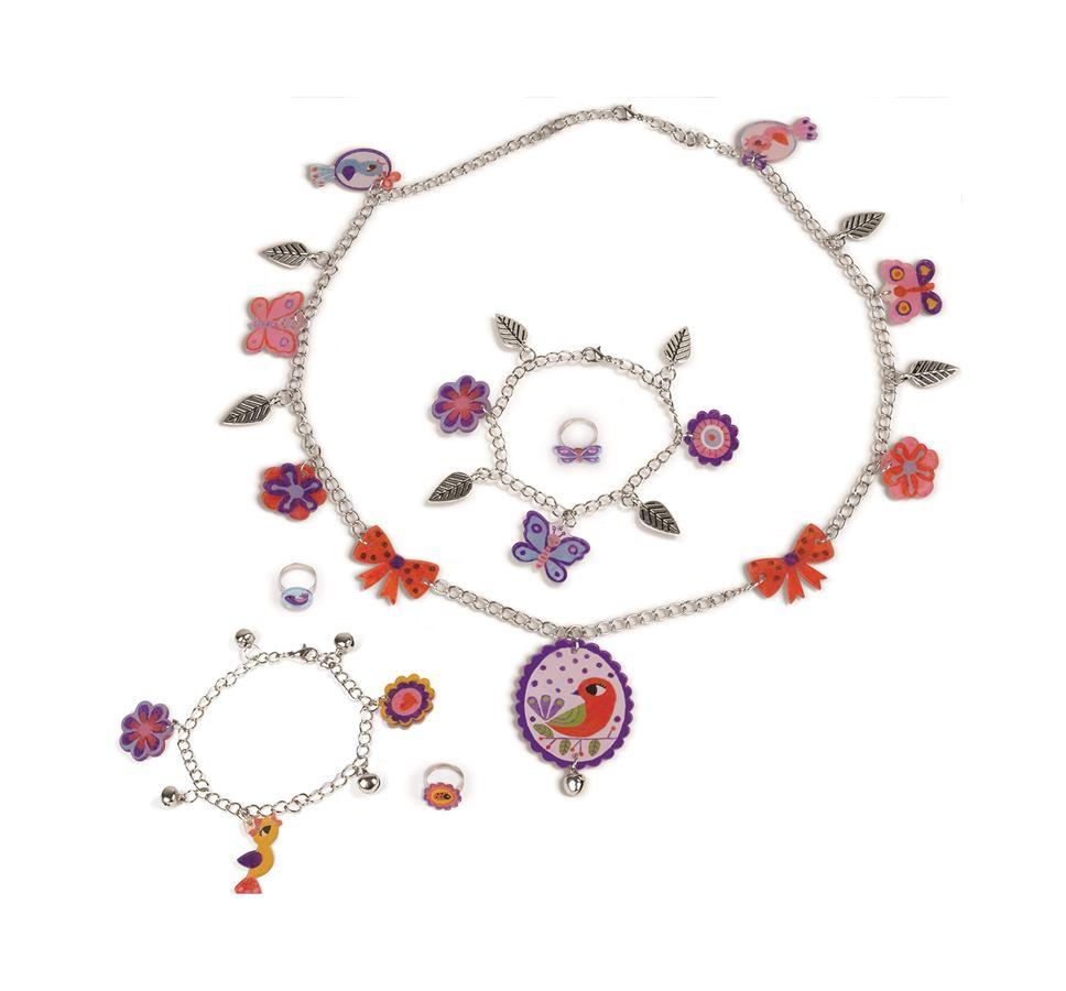 Kreatívna sada Príroda Janod výroba šperkov navliekanie v kufríku od 6-12  rokov d8bc05c8252