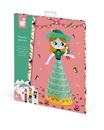 Kreatívne hračky na tvorenie Papierové bábiky Janod Atelier Sada Mini b861b77adff