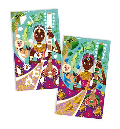 Kreatívne hračky na tvorenie Trblietavé obrázky s metalickým papierom  Bollywood Janod. Previous. J07809 Janod Atelier Trblietavé obrázky Bollywood  Midi 7. ... bf1859256a4