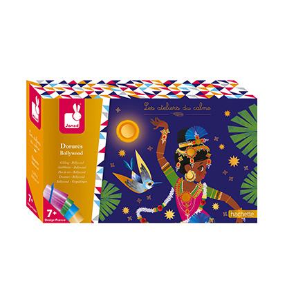 Kreatívne hračky na tvorenie Trblietavé obrázky s metalickým papierom  Bollywood Janod e31691d36b9