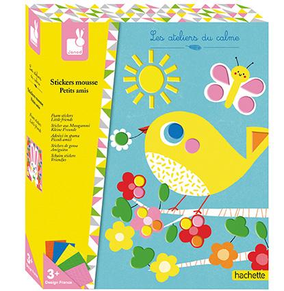 Kreatívne hračky na tvorenie Obrázky Zvieratká s penovými nálepkami Janod  Atelier Sada Max 87e349179e1