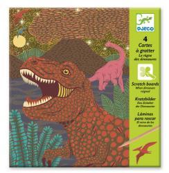 Kreatívna sada obrázky na vyškrabovanie z vosku Dinosaury Djeco od 6 rokov b51d5b713c0