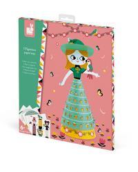 Kreatívne hračky na tvorenie Papierové bábiky Janod Atelier Sada Mini 18a9c7dbecb