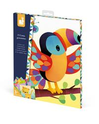 Kreatívne hračky na tvorenie Vytvor Zvieratká s nálepkami Janod Atelier  Sada Mini eb19d7468f0