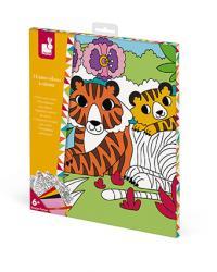 Kreatívne hračky na tvorenie Zamatové omaľovánky Janod Atelier Sada Mini a5b1d009562