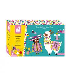 Kreatívne hračky na tvorenie Lama s brmbolcami Janod Atelier Sada Midi 70bdf8ce76d